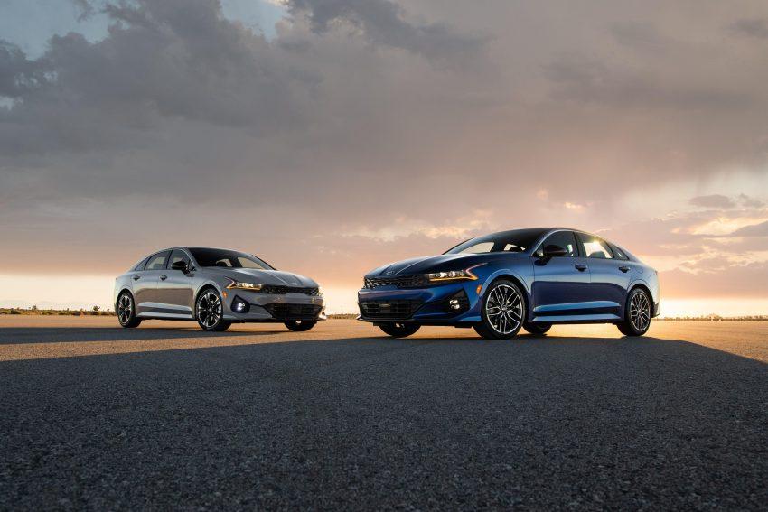 2021 Kia K5 GT-Line AWD and Kia K5 GT - Front Three-Quarter Wallpapers 850x567 #13