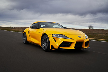 2021 Toyota GR Supra 2.0 [US-spec] - Front Three-Quarter Wallpapers 420x280