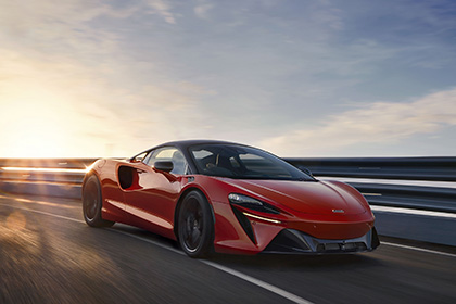 2022 McLaren Artura [UK-spec] - Front Three-Quarter Wallpapers 420x280