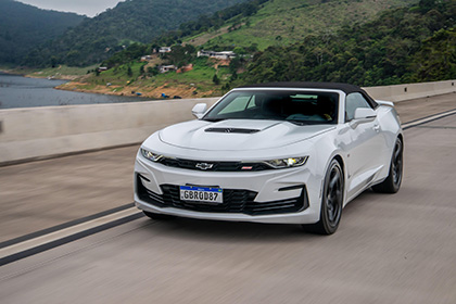 2020 Chevrolet Camaro SS Convertible - Front Wallpapers 420x280