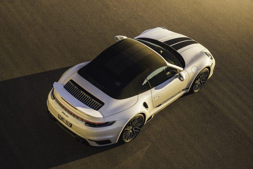 2021 Porsche 911 Turbo Cabriolet [AU-spec] - Rear Three-Quarter Wallpapers 850x567 #8