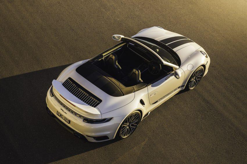 2021 Porsche 911 Turbo Cabriolet [AU-spec] - Rear Three-Quarter Wallpapers 850x567 #10