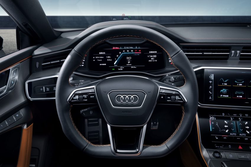 2022 Audi A7L 55 TFSI quattro S line edition one - Interior, Steering Wheel Wallpapers 850x566 #23