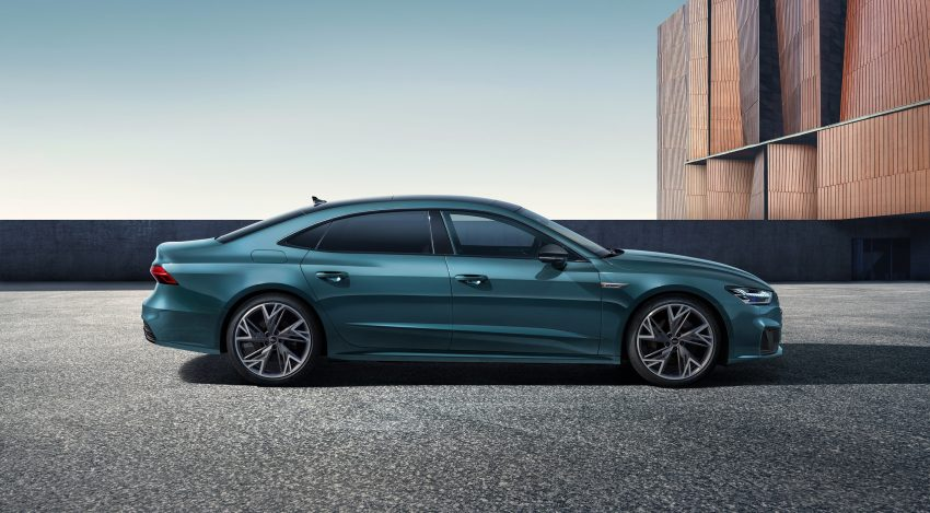 2022 Audi A7L 55 TFSI quattro S line edition one - Side Wallpapers 850x469 #5