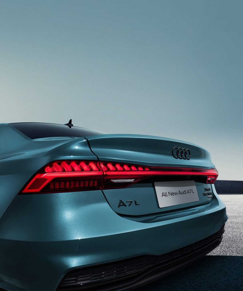2022 Audi A7L 55 TFSI quattro S line edition one - Tail Light Phone Wallpapers 850x1015 #9