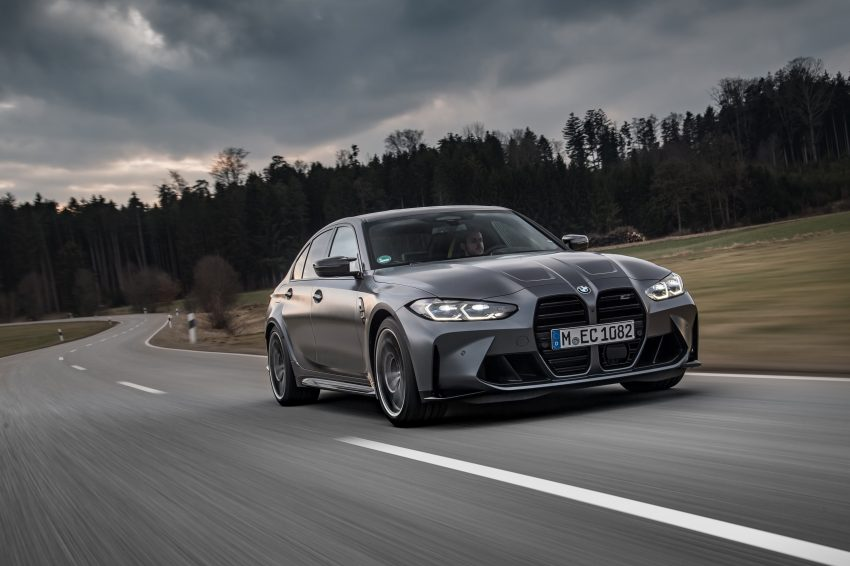 2022 BMW M3 Competition xDrive - Front Three-Quarter Wallpapers 850x566 #2