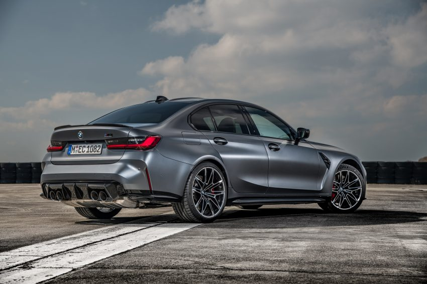 2022 BMW M3 Competition xDrive - Rear Three-Quarter Wallpapers 850x566 #25