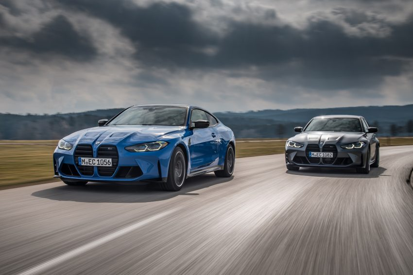 2022 BMW M4 Competition xDrive and M3 Competition xDrive - Front Three-Quarter Wallpapers 850x566 #5
