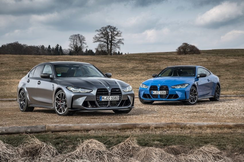 2022 BMW M4 Competition xDrive and M3 Competition xDrive - Front Three-Quarter Wallpapers 850x566 #17