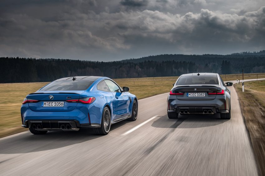 2022 BMW M4 Competition xDrive and M3 Competition xDrive - Rear Wallpapers 850x566 #8